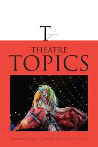 Theatre Topics November 2020 Cover