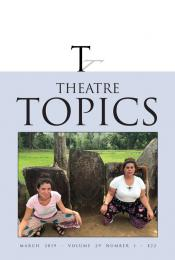 Theatre Topics 29.1 cover